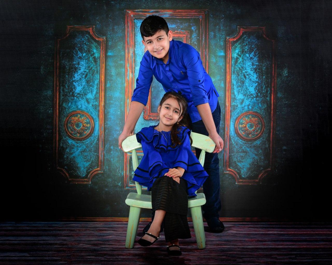 اتلیه کودک و عکس خواهر برادری