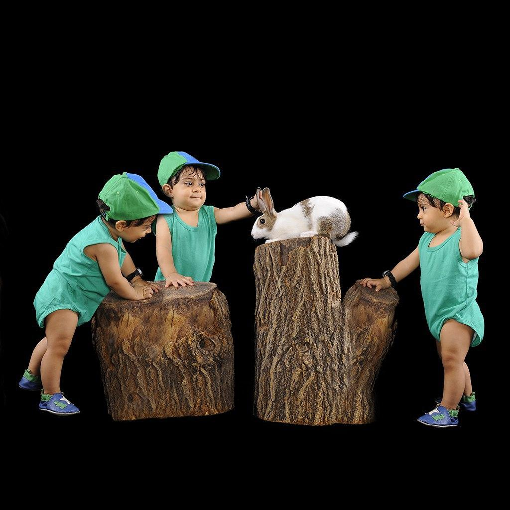 عکس ترکیبی در آتلیه کودک
