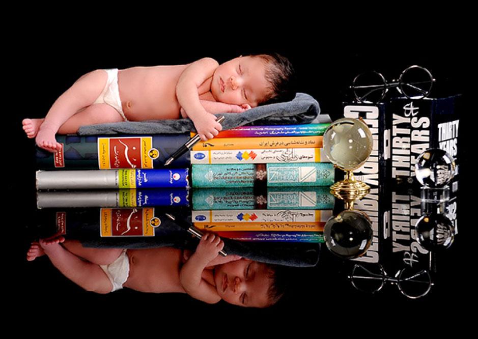 انتخاب ژست برای عکاسی نوزاد