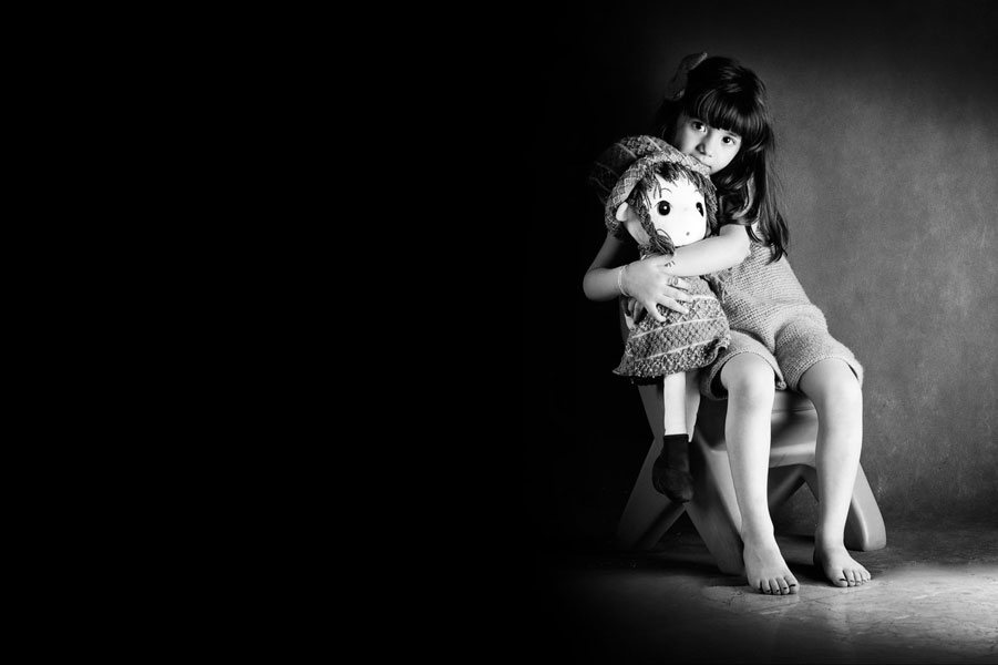 عکاسی کودک با کودک خجالتی