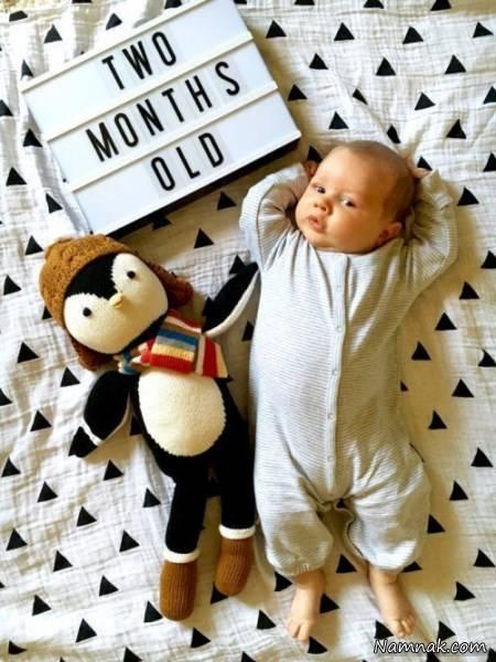 عکاسی ماهگرد نوزاد با ایده های جالب